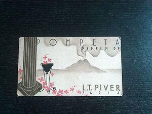 Antike Karte Duftkerze Pompeia L.T Piver Sammlung Parfüm Werbung