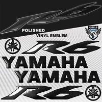 "5.75"" 3D FAIRING/GAS FUEL TANK YAMAHA LOGO EMBLEM+STICKER FOR YZF-R6/R6S BLACK"