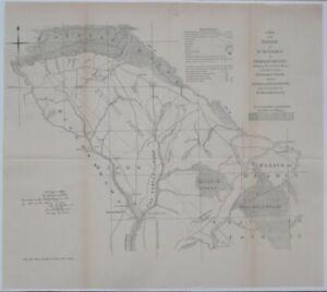 Henry Mouzon Canal Survey Map PARISH OF ST. STEPHEN CRAVEN COUNTY South Carolina