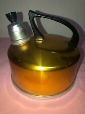 Retro Anodised Gold Kettle with heavy base