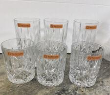 Nachtmann Bar 6 Pc Tumbler Glassware Whisky/Highball Bavarian Crystal Germany