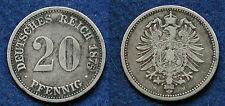 MONETA COIN MONNAIE EMPIRE GERMANY IMPERO GERMANIA 20 PFENNING 1875.H DARMSTADT