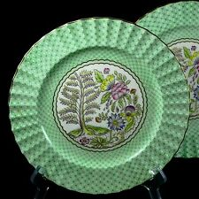 Pair Royal Worcester Pomander Luncheon Plates 2109