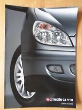 CITROEN C5 VTR Saloon & Estate 2003 UK Mkt sales brochure