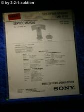 Sony Service Manual SRS RF80R /RF80RK /TMR RF80 Active Speaker System (#4941)