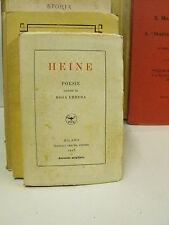 Poesie - Enrico Heine, trad.Rosa Errera - Treves (Y5)