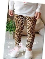 Baby Kids Girls children Toddlers Funky Halloween Leopard Print pants leggings