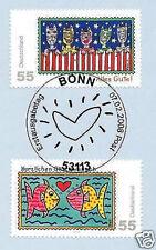 BRD 2008: Post-Grußmarken Nr. 2644 + 2645 mit Bonner Ersttags-Sonderstempel! 1A