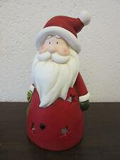 großer Weihnachtsmann Windlicht Nikolaus Fiberglas 35 cm Winter  Weihnachtsdeko