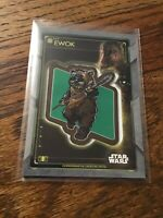 2020 Topps Star Wars Holocron Commemorative Creature Patch Ewok with Chewbacca
