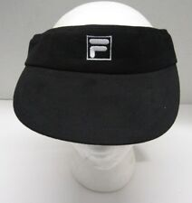 31b3e6a3c5d New Embroidered Fila Brand BLACK Adjustable ADULT VISOR Sports GOLF TENNIS  Cap