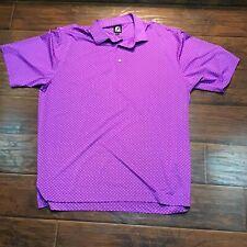 Fj Foot Joy purple golf polo 2Xl