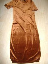 Robe ZARA velours lisse brun taille  40/42 L