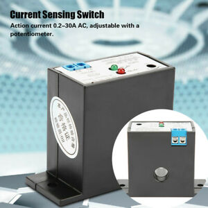 Normally Open Current Sensing Switch Adjustable Control AC 0.2A~30A Waterproof
