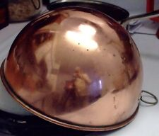 SOLID UNLINED COPPER EGG-WHIPPING BOWL, PRETTY GOOD VINTAGE CONDITION.
