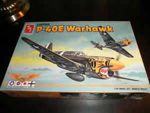 1/48 Curtiss P-40E WARHAWK WWII US Fighter by AMT/ERTL