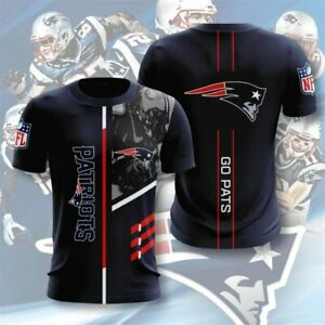 New England Patriots Football T-shirt Summer Casual Short Sleeve Print Tee Shirt
