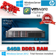 HP Proliant DL380 G7 2x 2.66Ghz  6-Core X5650 Xeon 64GB DDR3 RAM P410i 1GB CACHE