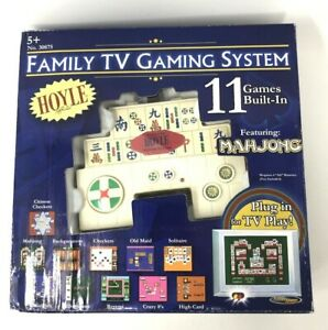 Hoyle Family TV Gaming System 11 Games Built In Plug and Play Classic Games Gift