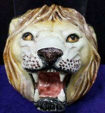 Antique/Vintage/Early Rare Unique Porcelain Lion Head Figural w/repaired Tooth