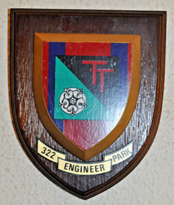 322 Engineer Park Royal Engineers regimental mess wall plaque shield RE