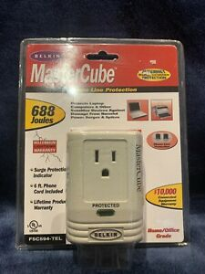 Belkin Master Cube Phone Line Protection Home/Office Grade 688 Joules F5C594 NEW
