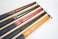 "SET OF 5 POOL CUES New 58"" Canadian Maple Billiard Pool Cue Stick #8 FREE SHIP"