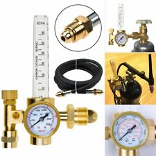Cga 580 Argon Flow Meter Regulator Mig Tig Flowmeter Welding Gauge Gas Hose