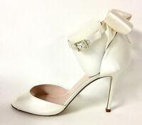 f6e7907bae23 Kate Spade Gunmetal Textured Grey Jeweled Peep Toe Flats Shoes Size ...