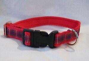 Fraser scottish red tartan dog collar or lead or complete set