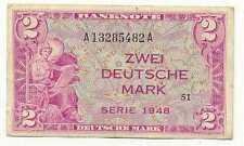 Germany Federal Republic 2 Deutsche Mark 1948 VF+ #234a