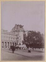 París Museo Del Louvre Estatua Gambetta Francia Vintage Citrato Hacia 1900