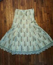 Ugly Green Rhinestones Fitted Long Skirt XMAS PARTY Sz 12-L (w/your sweater)