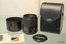 Tamron SP Adaptall-2 90mm f/2.5 Tele-Macro, model 52BB, with case and hood, EXC!