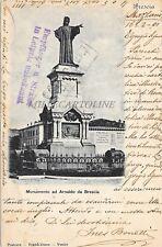 BRESCIA - Monumento ad Arnaldo da Brescia - Postcard Tradés-Union