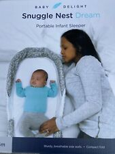 New Baby Delight Snuggle Nest Dream, Portable Infant Sleeper Gray - Ships Free