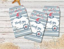 8 Nautical Boat Thank you Gift Tags & String