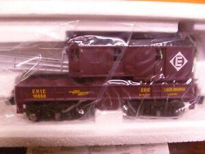 O Scale-  Lionel -Erie Lackawanna 6 Wheel Crane Car   -in Box- (V27)