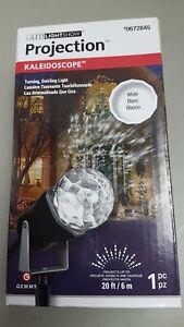 Gemmy Lightshow Christmas Lights Projection Kaleidoscope Lights White