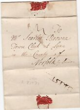 # 1768 LEICESTER PMK LETTER WILLIAM SHORT IN CLAYBROOK TO SCARLET BROWNE AT LYNN