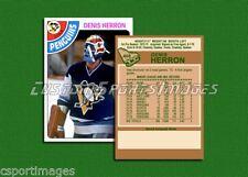 Denis Herron - Pittsburgh Penguins - Custom Hockey Card  - 1977-78
