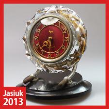 MAJAK Russian Soviet Crystal Bakelite Brass Mantel Desk Mechanical Wind up Clock