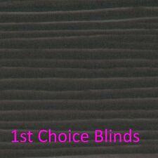 MADE TO MEASURE BLACK Faux Wooden Venetian Blinds Plastic Wood Effect Waterproof