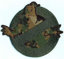 Camouflage [Wodland] Ghostbusters No Ghost Embroidered Iron on Patch