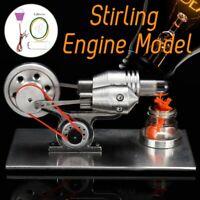 Hot Air Stirling Engine Motor steam power Model Generator Toy + Light Kit Gift