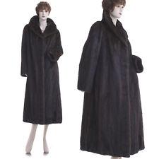 ON SALE! Mint! L! Elegant & Luxury Dark Mahogany Female Mink Fur Coat