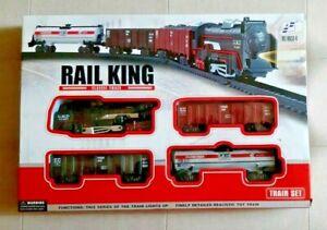 Zugset Eisenbahn Lok mit Waggons Schienen Modelleisenbahn mit Lok und 3 Waggons