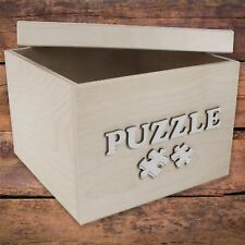 Small Square Storage Box With Removable Lid / 24x24x16 cm/ 'PUZZLE' Bolt Letters