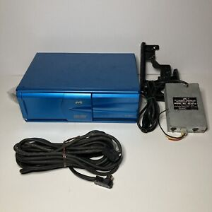 Blue JVC CH-X1500 Compact Disc Changer 12 Disc MP3 CD-RW Playback FOR PARTS Used