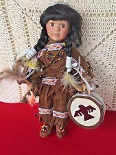 NATIVE AMERICAN Maple Leaf Canada Skookum Tom Tom Drum Doll #807 made 3000 ❤️j8